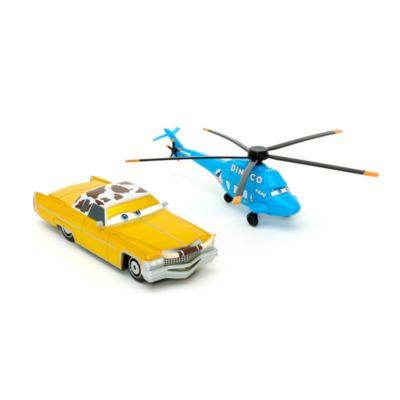 Modèles réduits Tex et Hélicoptère Dinoco de Disney Pixar Cars