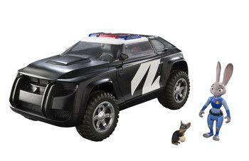 Zoomania - Judys Polizeiauto Deluxe mit Judy Hopps und Verbrechermaus Figurenset