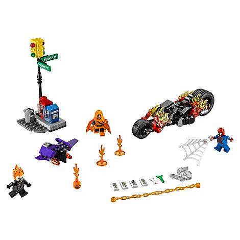 Set LEGO 76058 Spider-Man: Ghost Rider si allea