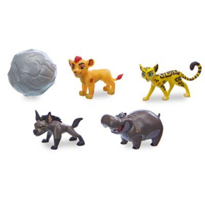 Ils vont pouvoir défendre la Terre des Lions avec cet amusant ensemble. Inspiré de la série La Garde du Roi Lion, il inclut cinq figurines en exclusivité, ainsi qu'une cascade, des passages secrets et un ascenseur en branches pour de nombreux jeux
