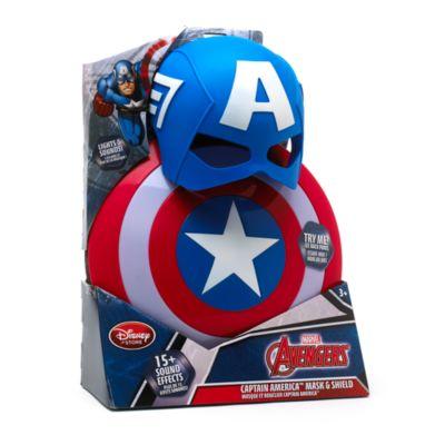 Captain America - Set mit Maske und Schild