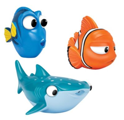 Dory, Marlin and Destiny Bath Toys, Finding Dory