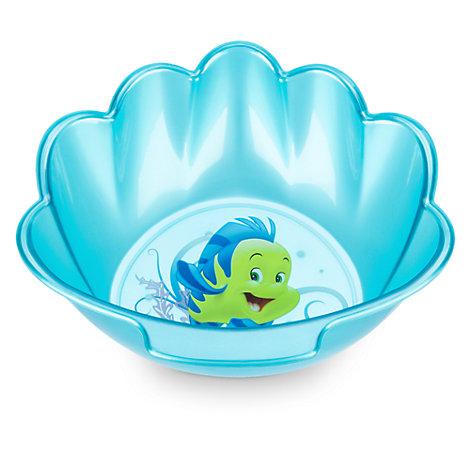 Bol con forma de concha Flounder, La Sirenita