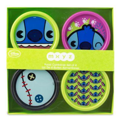Contenitori per alimenti Stitch MXYZ, set di 4