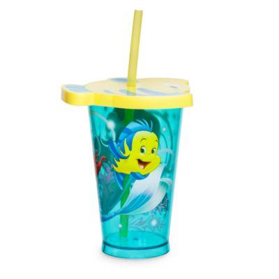 Bicchiere con cannuccia Ariel