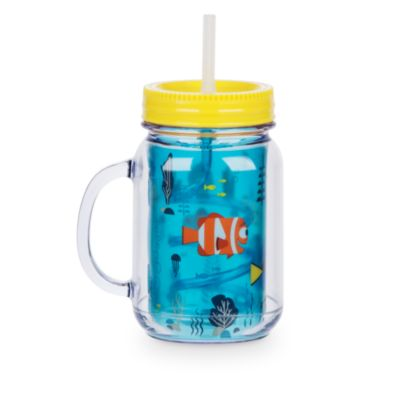 Finding Dory Jam Jar Cup With Straw
