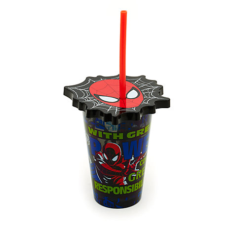 Gobelet Spider-Man avec paille