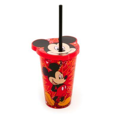 Gobelet fantaisie Mickey Mouse avec paille