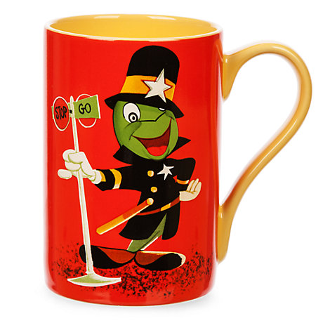 Jiminy Cricket Traffic Cop Record Cover Artwork Mug, Pinocchio