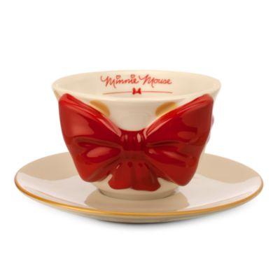 Minnie Mouse Signature Bow Mug And Saucer