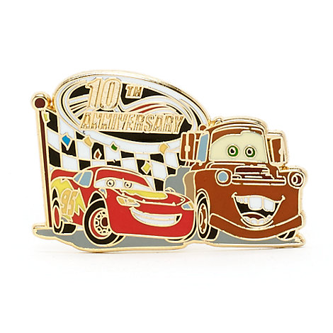 Disney Pixar Cars 10th Anniversary Limited Edition Pin