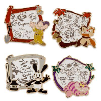 Spillette classici animazione Disney, set di 4