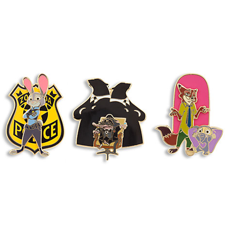 Zootropolis Limited Edition Pins, Set of 3