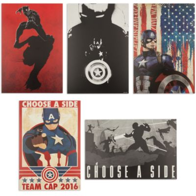 Ensemble de 5 lithographies Captain America : Civil War