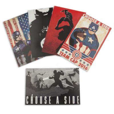 Litografías Capitán América: Civil War, set de 5