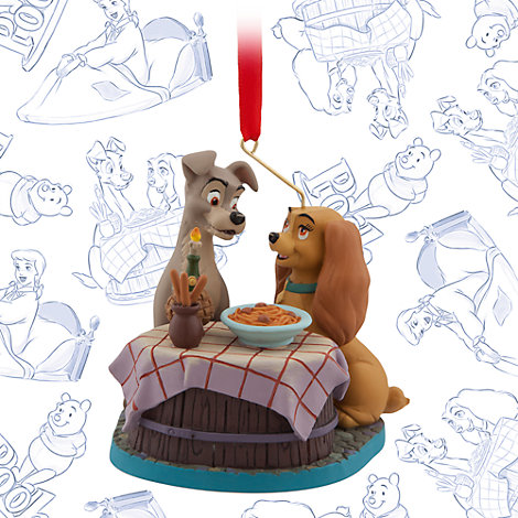 Lady and the Tramp Ornament, Art of Disney Animation Collection