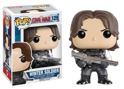 Personaggio in vinile Soldato d'Inverno serie Pop! by Funko, Captain America: Civil War