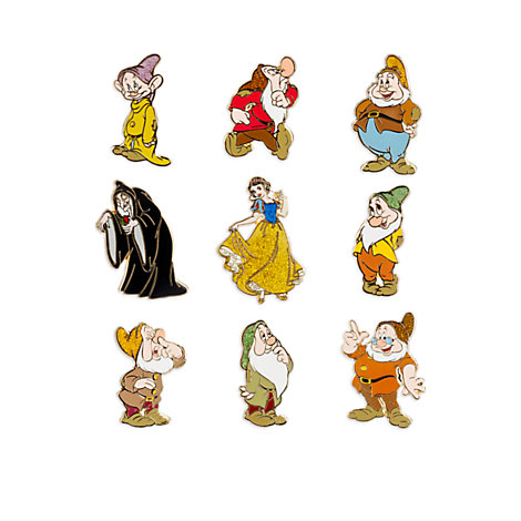Snow White Limited Edition Pins, Set of 9