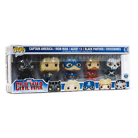 Captain America : Civil War Pop ! Ensemble de 5 figurines Funko en vinyle