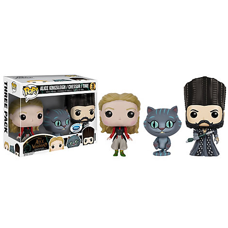 Alice Through The Looking Glass Pop! Vinyl Figures by Funko, Set of 3