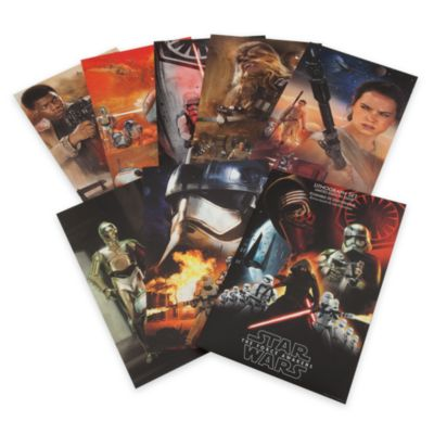 Star Wars: The Force Awakens Limited Edition Lithographs, Set of 7