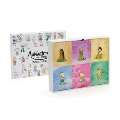 Disney Animators' Collection Limited Edition Pins, Set of 6
