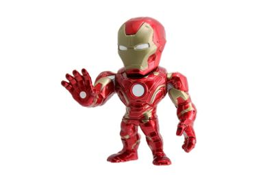 Modellino personaggio Iron Man 10 cm serie Metals, Captain America: Civil War