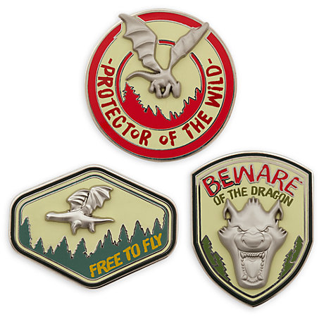 Pete's Dragon Limited Edition Pins, Set of 3