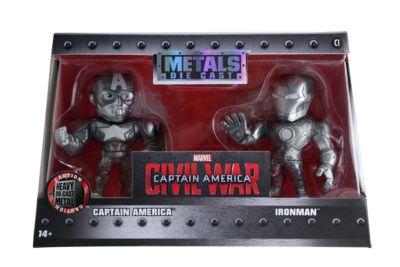 The First Avenger: Civil War - Iron Man und Captain America Metals Die Cast-Actionfiguren (ca. 10 cm)