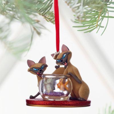 Décoration de Noël Si et Am, La Belle et le Clochard
