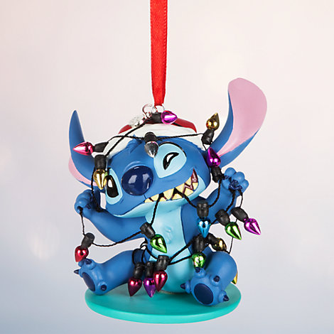 Decoración navideña luces Stitch