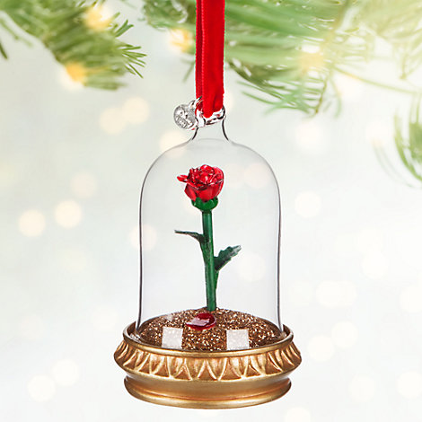 beauty and the beast rose christmas decoration. Black Bedroom Furniture Sets. Home Design Ideas