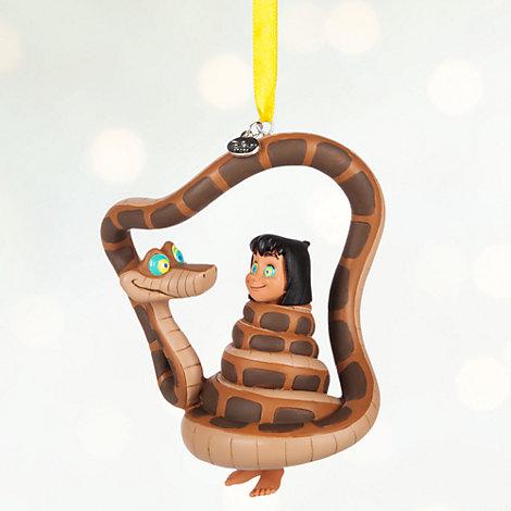 Decoración navideña Mowgli y Kaa