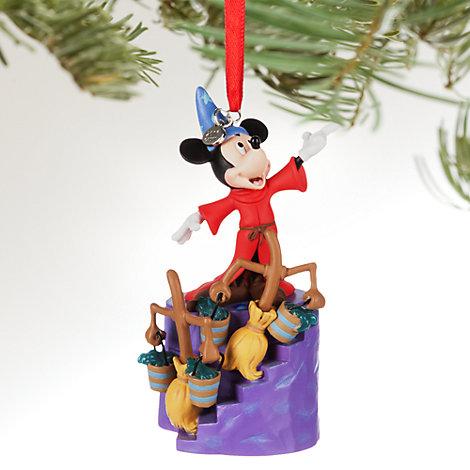 Decoración navideña luminosa Mickey Mouse aprendiz de brujo