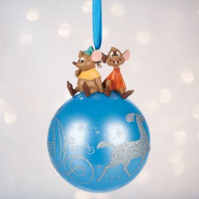 Gus and Jaq Globe Christmas Decoration