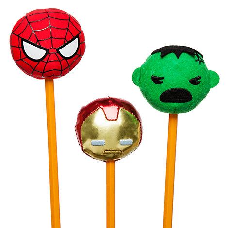 Juego 3 capuchones de felpa para lápiz MXYZ Marvel