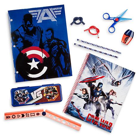 Juego de papelería Capitán América