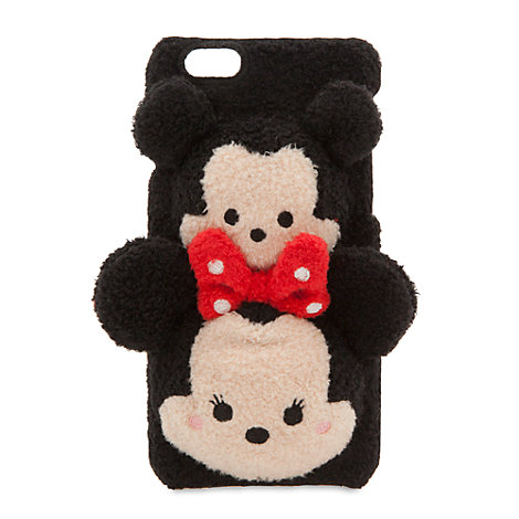 Tsum Tsum Mickey And Minnie Mouse Plush Fabric Mobile Phone Clip Case