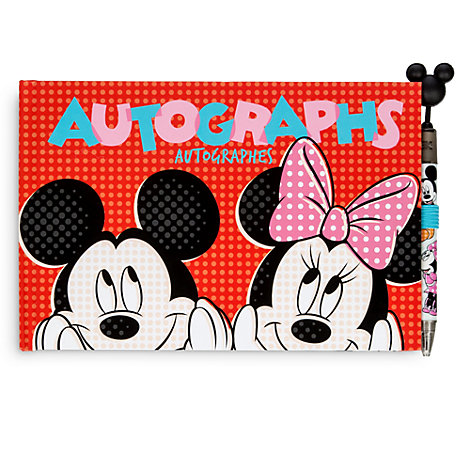 Mickey Mouse And Minnie Mouse Autograph Book