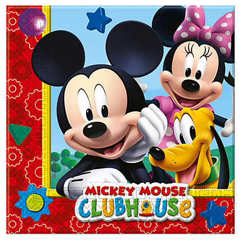 Lot de 20 serviettes de fête Mickey Mouse