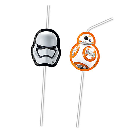 Star Wars: The Force Awakens 6x Bendy Straws