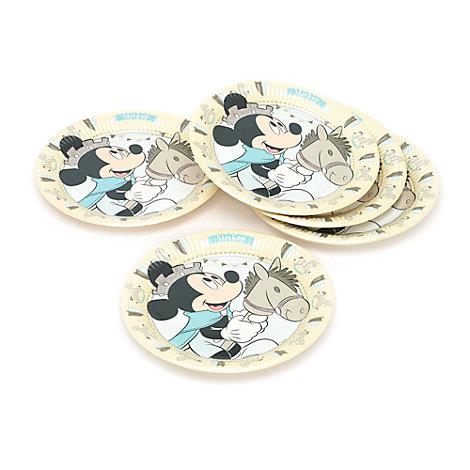 Ensemble de 8 assiettes de fête Prince Mickey Mouse