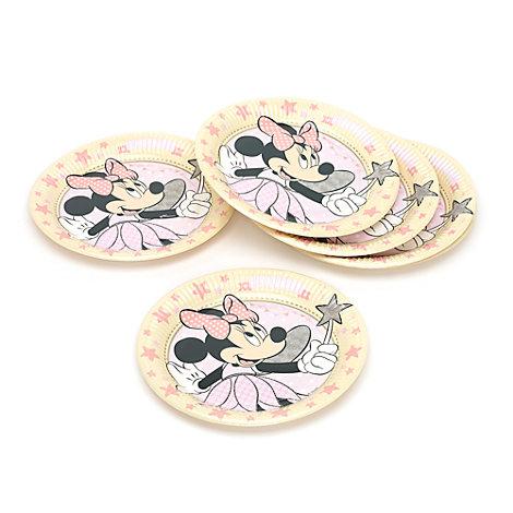 Ensemble de 8 assiettes de fête Fée Minnie Mouse