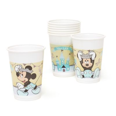 Ensemble de 8 gobelets de fête Prince Mickey Mouse