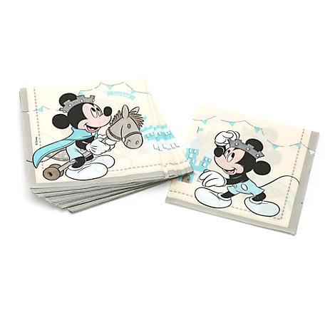 Lot de 20 serviettes de fête Prince Mickey Mouse
