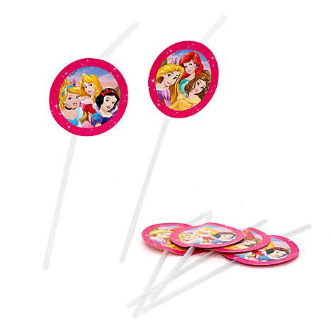 Pajitas flexibles princesa Disney (6 u.)