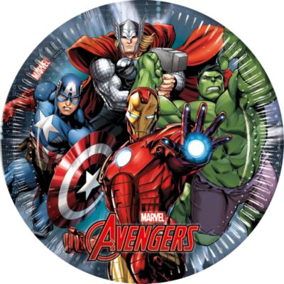 Lot de 8 assiettes de fête Avengers