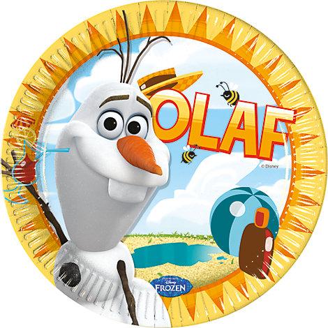 8 assiettes de fête Olaf