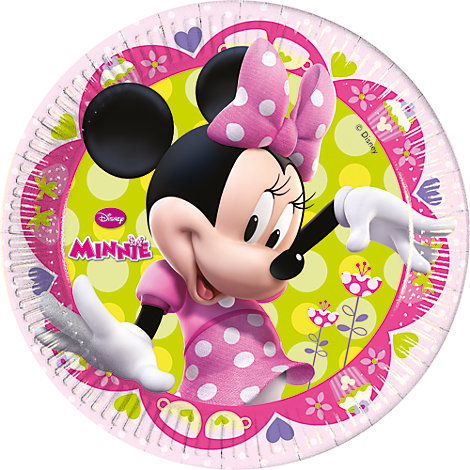 Minnie Mouse 8x Party Plates Set