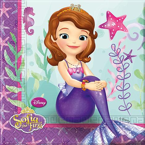 Sofia la Principessa, 20 tovaglioli di carta